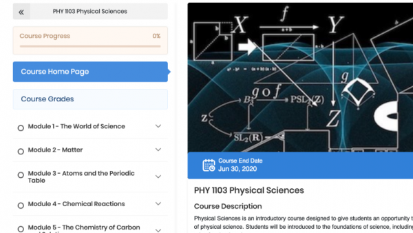 PHY 1103: Physical Sciences